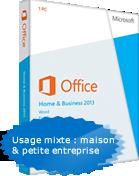 Microsoft Office Famille et Petite Entreprise 2013 1-PC, compatible Windows 7, 8 et 10